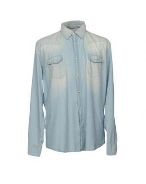 Джинсовая рубашка SIVIGLIA DENIM. Цвет: синий