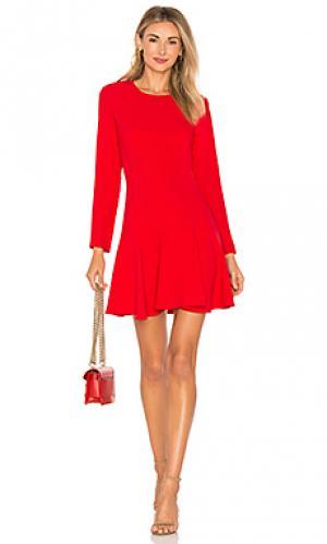 Мини-платье с длинным рукавом hudson Amanda Uprichard. Цвет: красный