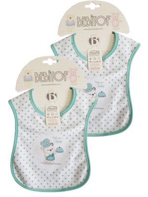 Набор слюнявчинов 2 шт Bebitof Baby. Цвет: зеленый