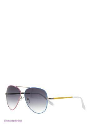 Солнцезащитные очки Mascotte. Цвет: синий, розовый