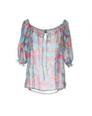 Блузка MOSAIQUE. Цвет: бирюзовый
