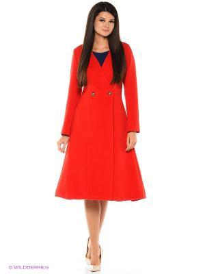 Пальто Travel Red Katya Erokhina. Цвет: красный
