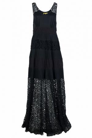 Шикарное платье в пол Catherine Malandrino. Цвет: черный
