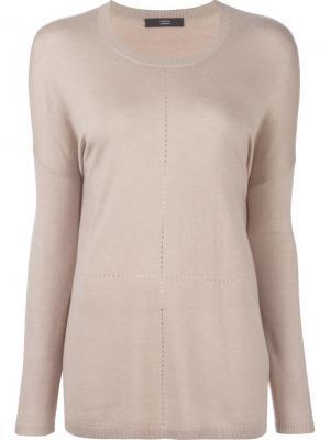 Пуловер с перфорацией Steffen Schraut. Цвет: телесный