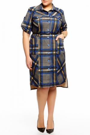 Платье QNEEL Q'NEEL. Цвет: черный, синий, бежевый