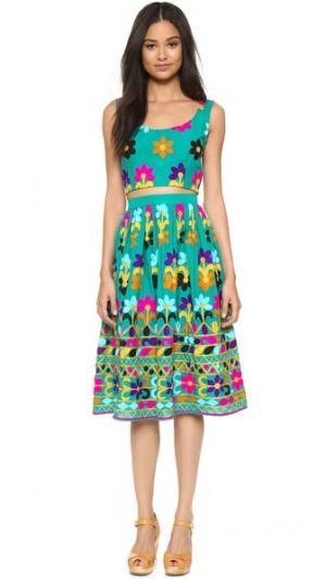 Комплект Jaipur из миди-юбки и топа All Things Mochi. Цвет: зеленый