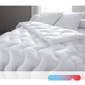Одеяло синтетическое с чехлом из натурального материала, качество люкс BEST. Цвет: белый