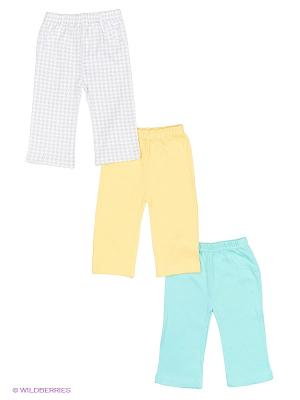 Штанишки (3 шт.) Luvable Friends. Цвет: бирюзовый, желтый, серый
