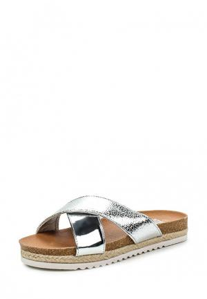 Шлепанцы Max Shoes. Цвет: серебряный