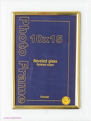 Фоторамка стеклянная 10Х15, flat vert VELD-CO. Цвет: желтый