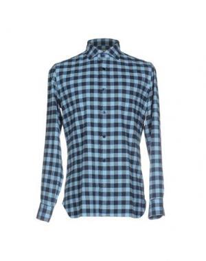 Pубашка GIAMPAOLO. Цвет: лазурный