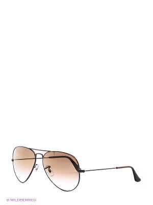 Очки солнцезащитные AVIATOR LARGE METAL Ray Ban. Цвет: черный, коричневый