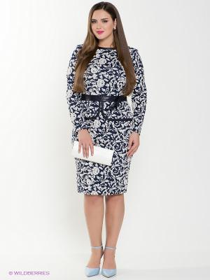 Платье Amelia Lux. Цвет: синий, белый