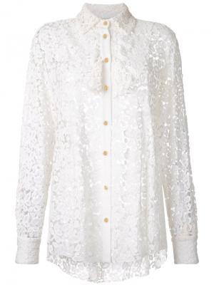 Рубашка Louis Macgraw. Цвет: белый