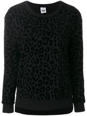 Leopard print sweatshirt Twin-Set. Цвет: чёрный