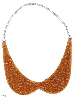 Ожерелье-воротник Bizon. Цвет: коричневый