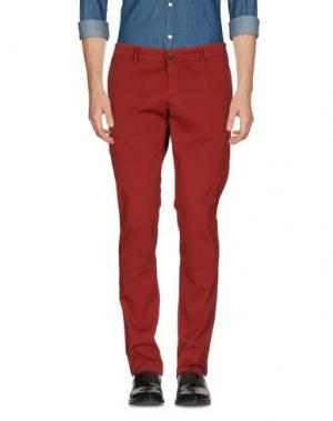 Повседневные брюки MAISON CLOCHARD. Цвет: красно-коричневый