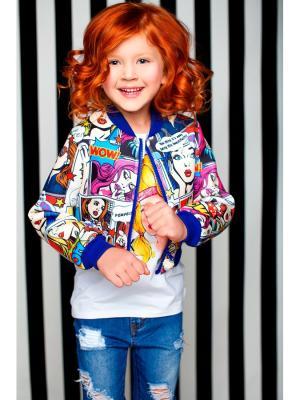 Куртка Stilnyashka. Цвет: белый, синий, розовый