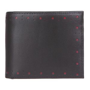 Кошелек  Punched Brogue Billfold & Coin Black Fred Perry. Цвет: черный