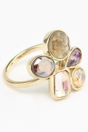 Кольцо Nina Ricci. Цвет: золото, розовый