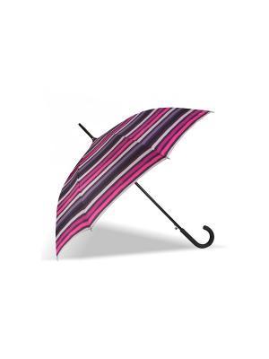 Зонт Isotoner. Цвет: белый, черный, фиолетовый, розовый