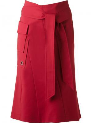 Panelled mid-length skirt Giuliana Romanno. Цвет: красный