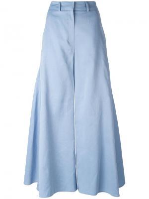 Широкие брюки Peter Pilotto. Цвет: синий