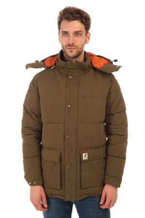 Куртка зимняя  Urban Heat Army Fat Moose. Цвет: зеленый