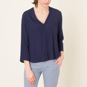 Блузка POMANDERE. Цвет: темно-синий