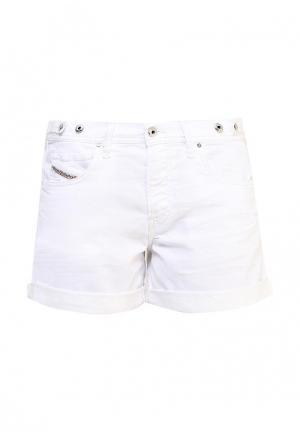 Шорты джинсовые Diesel. Цвет: белый