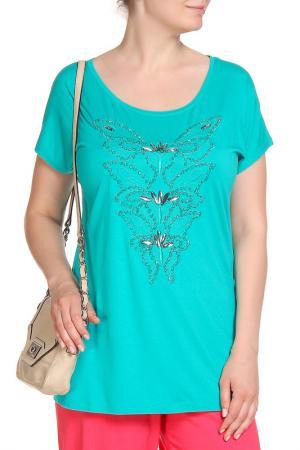 Блуза SARAH KERN. Цвет: зеленый