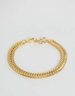 Seven London Золотистый браслет-цепочка. Цвет: золотой
