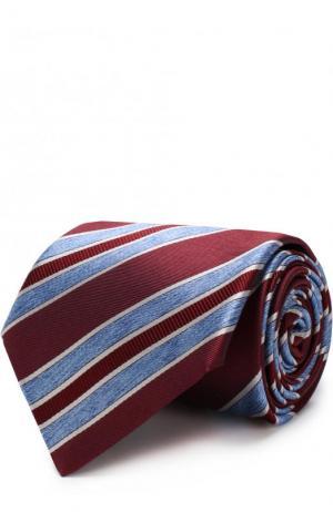 Шелковый галстук Brioni. Цвет: бордовый