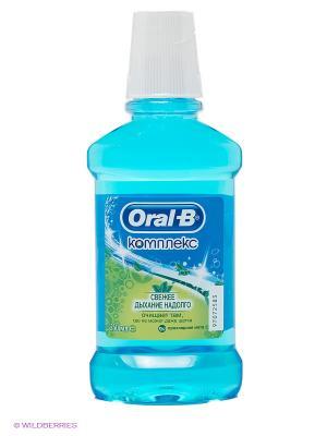 Ополаскиватель полости рта безалкогольный, Комплекс Антибактериальный, 250 мл ORAL_B. Цвет: голубой