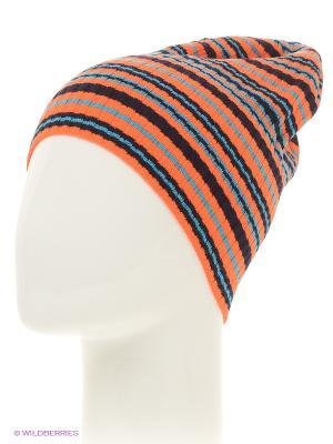 Шапка ELFRIO. Цвет: темно-синий, оранжевый