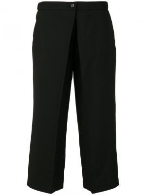 Укороченные брюки Aalto. Цвет: чёрный