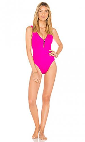 Слитный купальник lea OYE Swimwear. Цвет: розовый