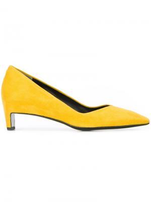 Туфли на низких массивных каблуках Robert Clergerie. Цвет: жёлтый и оранжевый