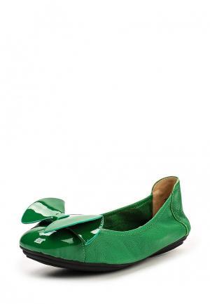 Балетки Dino Ricci. Цвет: зеленый