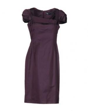 Короткое платье 6267. Цвет: баклажанный
