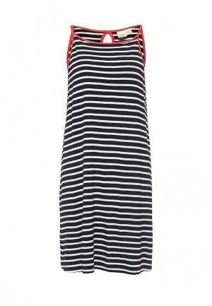 Платье Roxy. Цвет: черно-белый