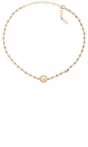 Ожерелье buried treasure Natalie B Jewelry. Цвет: металлический золотой