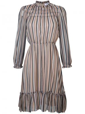 Полосатое платье со сборками Derek Lam 10 Crosby. Цвет: многоцветный