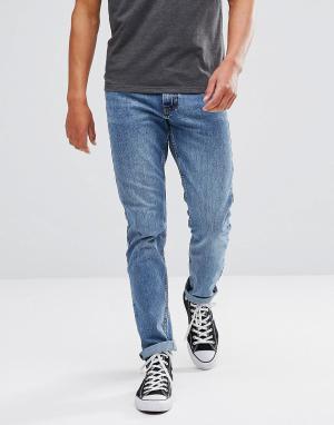 Just Junkies Голубые джинсы прямого кроя. Цвет: синий