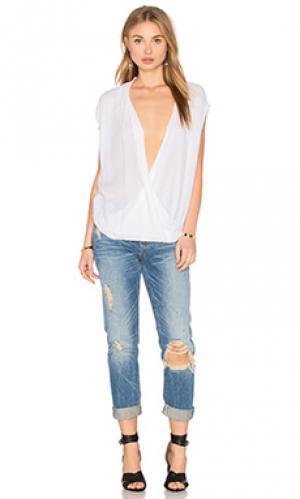 Блуза без рукавов acasia Velvet by Graham & Spencer. Цвет: белый