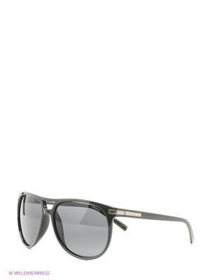Солнцезащитные очки Polaroid. Цвет: зеленый, черный
