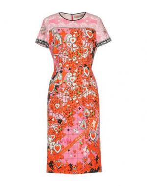 Платье до колена PICCIONE•PICCIONE. Цвет: розовый