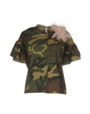 Pубашка SOUVENIR. Цвет: зеленый-милитари