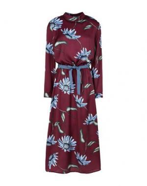 Платье длиной 3/4 GEORGE J. LOVE. Цвет: красно-коричневый