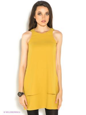 Платье Motivi. Цвет: горчичный